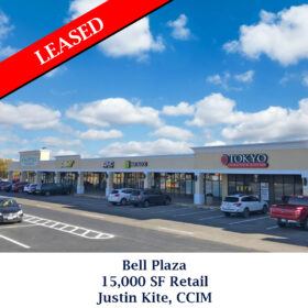 Leased Bell Plaza retail Justin