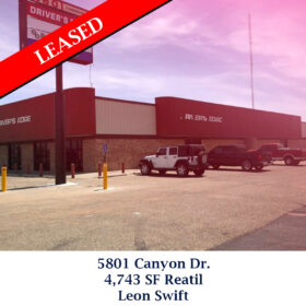 Leased 5801 Canyon Dr retail Leon