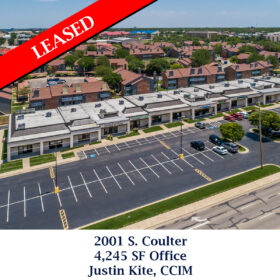 Leased 2001 S coulter Justin office