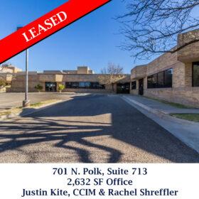 Leased 701 N. Polk Suite 713 office justin rachel