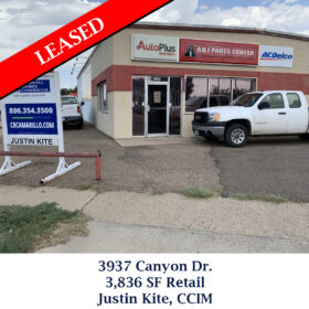Leased 3937 Canyon Dr Justin Retail