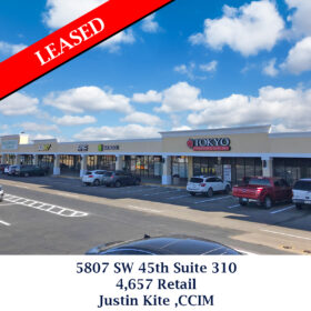 Leased 5807 SW 45th Suite 310 Justin Kite
