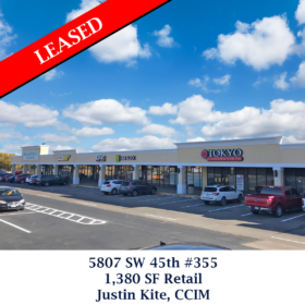 5807 SW 45th #355 leased justin